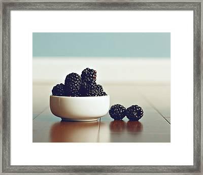 Sweet Blackberries Framed Print by Amelia Matarazzo