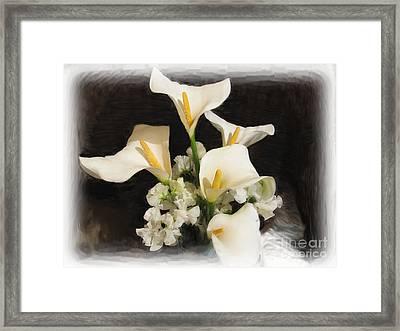Sweet Calla Lilies Framed Print