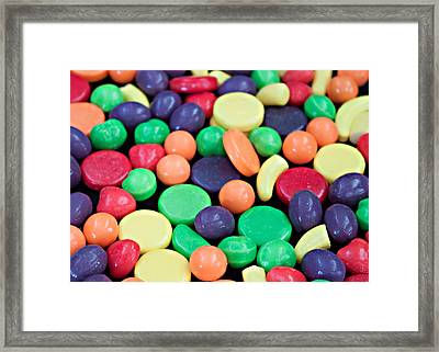 Framed Print featuring the photograph Sweet Candy Galore  by Sherry Hallemeier