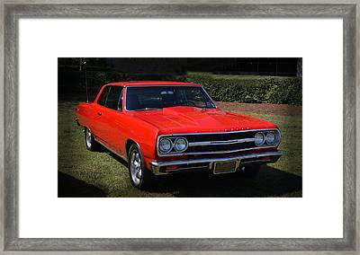 Sweet Chevy 002 Framed Print by George Bostian