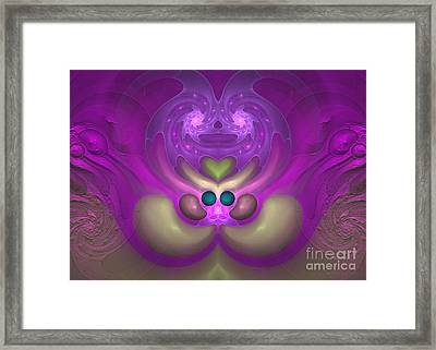 Sweet Dreams - Abstract Digital Art Framed Print by Sipo Liimatainen