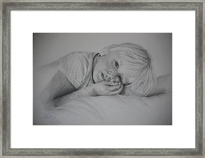 Framed Print featuring the drawing Sweet Dreams by Lynn Hughes