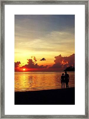 Sweet Golden Memory. Maldives Framed Print by Jenny Rainbow