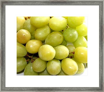Sweet Green Grapes Framed Print by Barbara Griffin