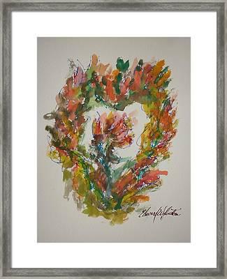 Sweet Heart Of Love Framed Print by Edward Wolverton