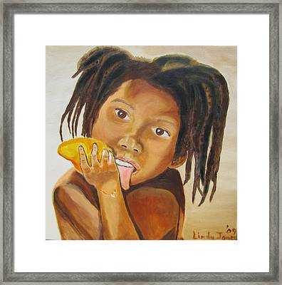 Sweet Mango Framed Print by Jennylynd James