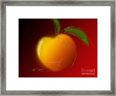 Sweet Peach 1 Framed Print by Andee Design