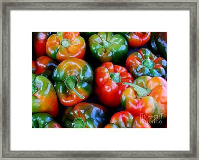 Sweet Peppers Framed Print by Guy Harnett