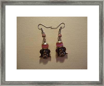 Sweet Pink Angel Earrings Framed Print by Jenna Green