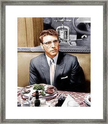 Sweet Smell Of Success, Burt Lancaster Framed Print by Everett