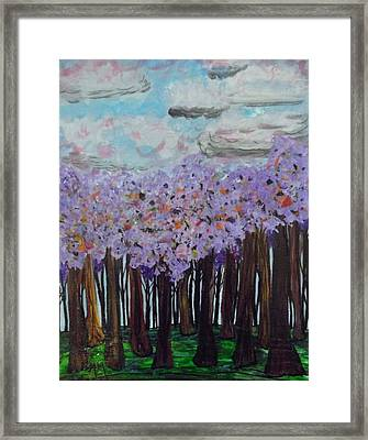 Sweet Trees Framed Print by Megan Ford-Miller