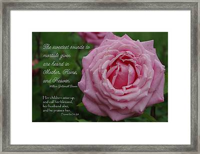 Sweetest Sound Mother Proverbs 31 Framed Print by Robyn Stacey