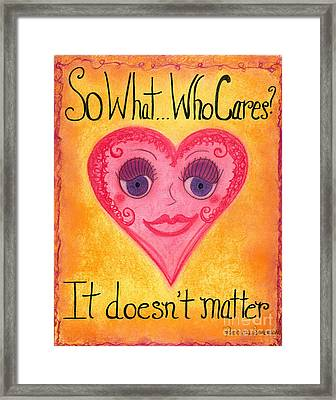 Sweetie037 Artwithheart.com Framed Print by Patricia 'Amber' Sorenson