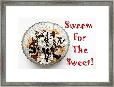 Sweets For The Sweet Ice Cream Framed Print by Andee Design