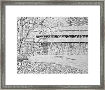 Swift River Bridge Framed Print by Tim Murray