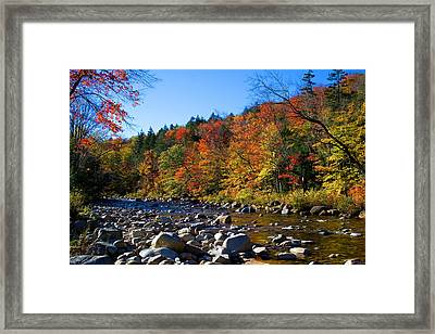 Swift River In Autumn Framed Print