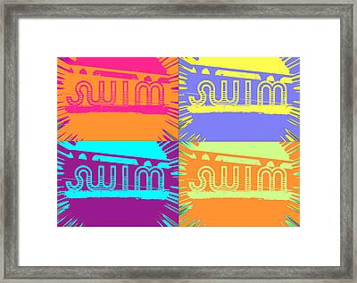 Swim Framed Print by Amber Hennessey