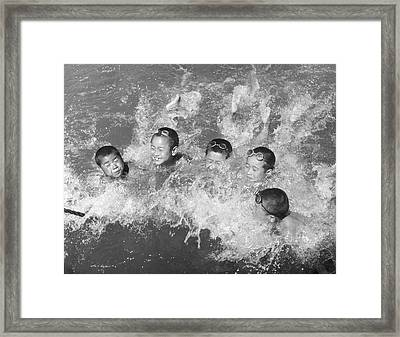 Swim Time Framed Print by Archive Photos
