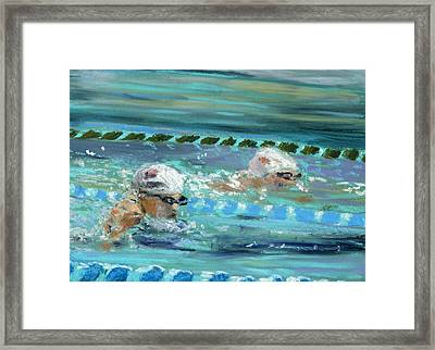 Swimmers Framed Print by Paul Mitchell