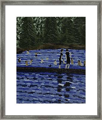 Swimming At The Res Framed Print by Kurt Olson