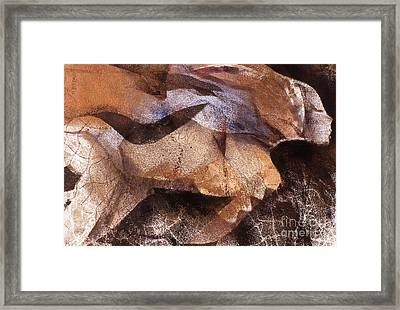 Swimming Figure II Framed Print by Charles B Mitchell