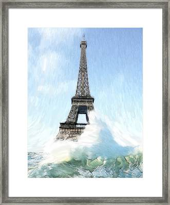 Swimming Pleasure In Paris Framed Print by Steve K
