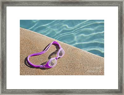 Swimming Pool Side Framed Print