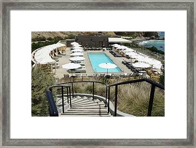 Swimming Pool Framed Print by Thomas Nguyen