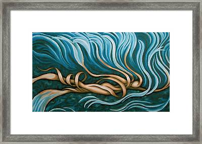 Swimmy Lady Framed Print