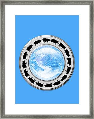 Swine Flu Pandemic, Conceptual Image Framed Print by Victor Habbick Visions
