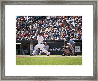 Swing And Hit Framed Print by Cindy Lindow