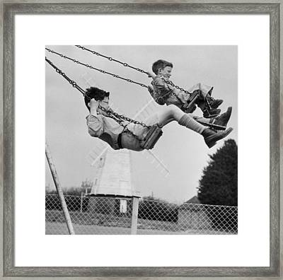 Swing High Framed Print