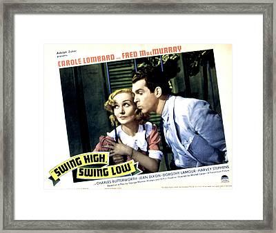 Swing High, Swing Low, Carole Lombard Framed Print by Everett