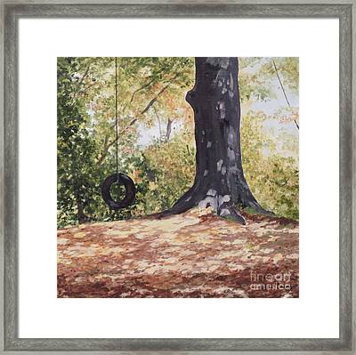 Swing Time Framed Print by Carla Dabney