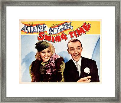 Swing Time, Ginger Rogers, Fred Framed Print