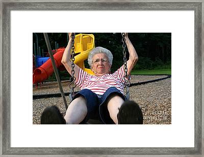 Swinging Grandmother 11 Framed Print