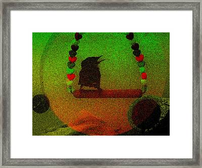 Swinging Framed Print by YoMamaBird Rhonda