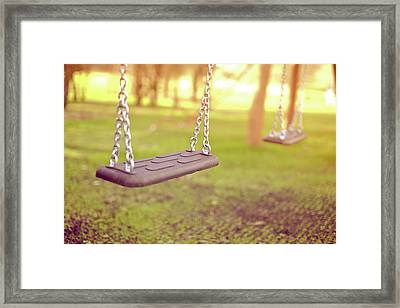 Swings In Park Framed Print by Rob Webb
