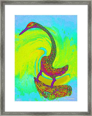 Swirl Crane Framed Print by Roland LaVallee