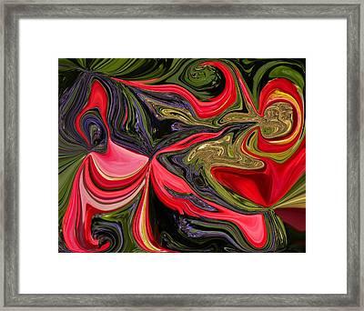 Swirled Garden 1 Framed Print