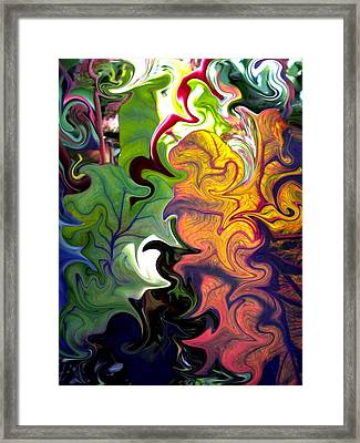 Swirled Leaves Framed Print