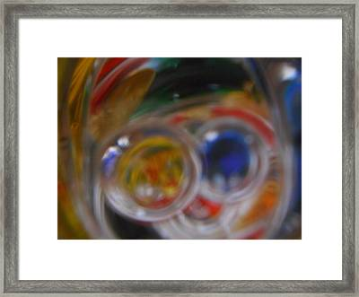 Swirling Colors Framed Print
