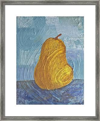 Swirling Pear Framed Print by Wayne Potrafka