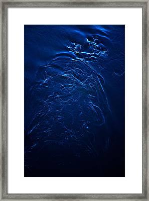 Swirls In River Framed Print by Sindre Ellingsen