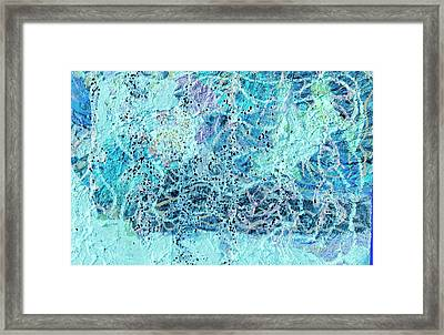 Swirls Of Blue With Dots Framed Print by Anne-Elizabeth Whiteway