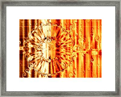 Swirly Embossed Gold Framed Print by Hakon Soreide