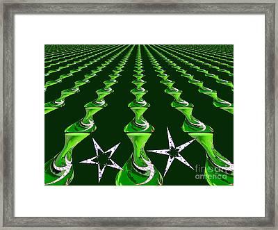 Swirly Green Links Framed Print by Jeannie Atwater Jordan Allen