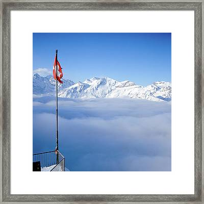 Swiss Alps Panorama Framed Print