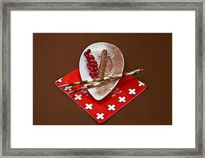 Swiss Chocolate Praline Framed Print