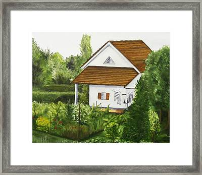 Swiss Country Home Framed Print